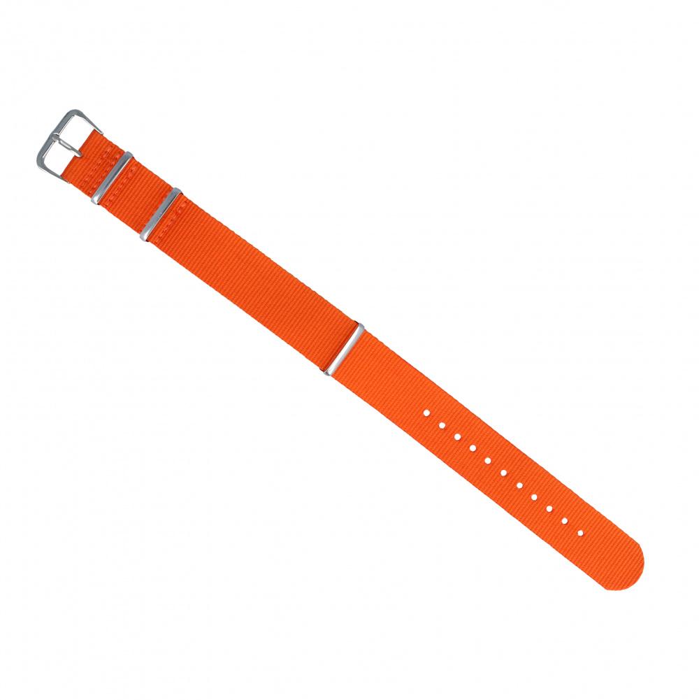 Pasek do zegarka Diloy 18 mm pomarańczowy